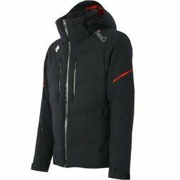 Descente Mens Ski Jacket Canada Black Dual Zip CF Ventilatio