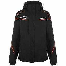 meribel ski jacket mens black red coat