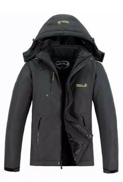 MOERDENG Men's Waterproof Ski Jacket Warm Winter Snow Coat M