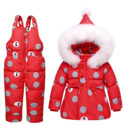 new fashion baby winter snow suit white duck down jacket + j