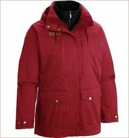 new Columbia Interchange men winter jacket omni-heat red sz