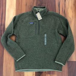 New Patagonia Men's Better Sweater Jacket XXL 1/4 Zip Green