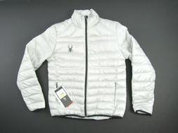 New Spyder Prymo Down Jacket Mens Size Medium M Gray Black