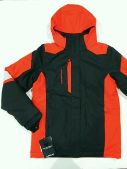 New tag NWT Obermeyer Boys Black Red Fleet Insulated Hooded