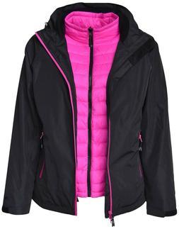 New Pulse Womens Plus Size 3in1 Swiss  Snow Ski Jacket 1X 2X