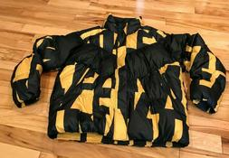 Nike NSW Down Fill Ski Jacket Black Yellow 928889 752 Men's