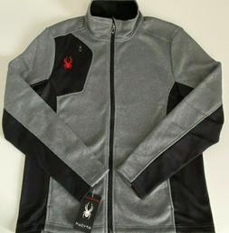 NWT $129 Spyder Ski Jacket Pullover Cardigan Gray Black Full