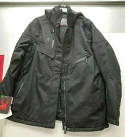 NWT Spyder Men's Leader Gore-Tex Ski Jacket in Black 2X Larg