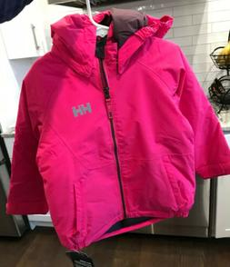 NWT Girls Pink Helly Hansen Girls K Cover Insulated Ski Wint