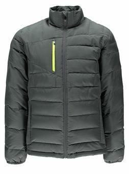 NWT Spyder Men's Dolomite Full Zip Down Jacket Polar Gray Br
