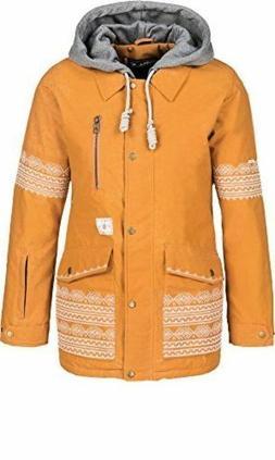 NWT O'Neill Ramona Geometric Ski Jacket 655061 Golden Oak Wo
