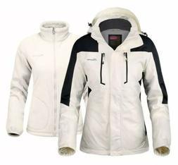 OutdoorMaster Women's 3-in-1 Ski Jacket w/ Fleece Liner- M