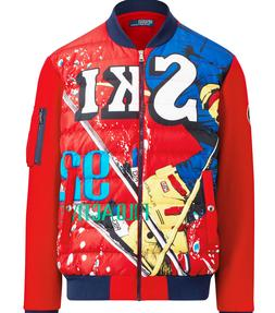 Polo Ralph Lauren Quilted CP93 Ski Down Hill Skier 92 Double