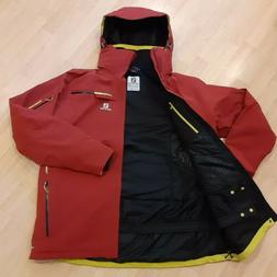 Salomon Brilliant ASDry Insulated Red  Ski Jacket WP  Men's
