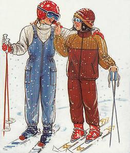 SKI Pants and JACKET SNOWSUIT | Child Sizes 4-11jr | UNCUT S