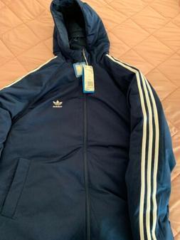 Adidas SST Down Hood Ski Puff Reversible Jacket   $250