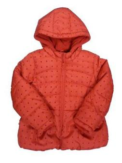 Rothschild Toddler & Little Girls Red Polka Dot Coat Puffer