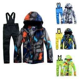 Unisex Ski Suit Jacket Winter snowboard Waterproof Coat Hood