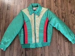 Vtg Mens 70s Ski Winter Puffer VEST ZIP OFF Sleeves Jacket C