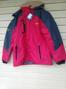 Wantdo Men's Mountain Waterproof Ski Jacket, Red Size XL