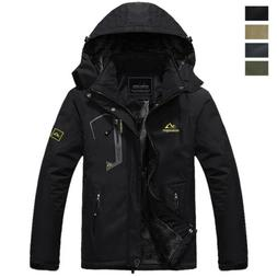 Waterproof Mountain Ski Jacket Men's Winter Hooded Coat Ther