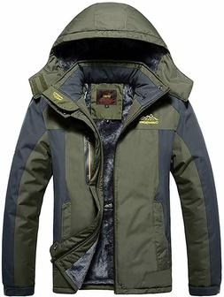 Waterproof Windproof Mens Warm Coat Snow Winter Jacket Outwe