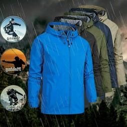 Winter Men's Waterproof Windproof Outdoor Hiking Work Hooded