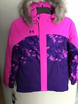 Under Armour Winter Ski Youth Girls hooded Jacket Insulated