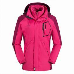 Tbmpoy Women'S 3-In-1 Winter Ski Jacket Outdoor Waterproof S