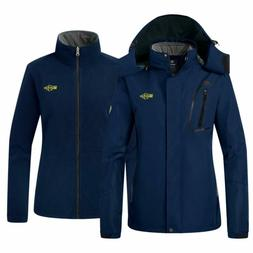 Wantdo Women'S Fleece 3 In 1 Interchange Ski Jacket Waterpro