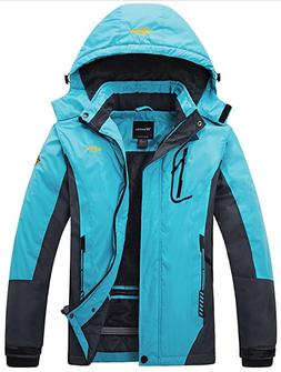 Wantdo Women's Mountain Waterproof Ski Jacket Windproof Rain