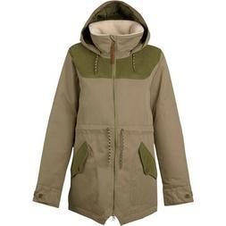 Burton Women's Prowess Insulated Ski Jacket Medium Olive Gre