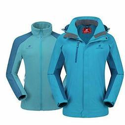 CAMEL CROWN Women's Ski Jacket Winter Jacket Waterproof 3 in