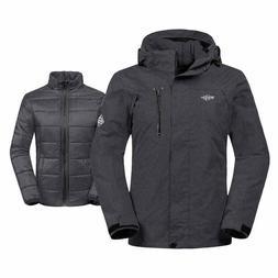 Wantdo Women's Waterproof Interchange Snow Coat 3 in 1 Fleec