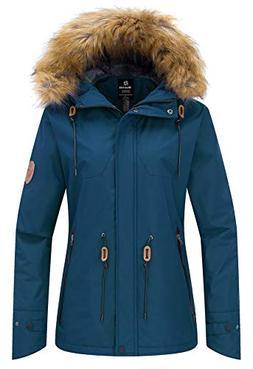 Wantdo Women's Waterproof Ski Fleece Jacket Mountain Parka S
