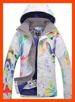 Women's Windproof Waterproof Ski & Snowboarding Jacket WHITE