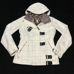 Burton Womens Dryride Ski Jacket Coat White Size S Full Zip