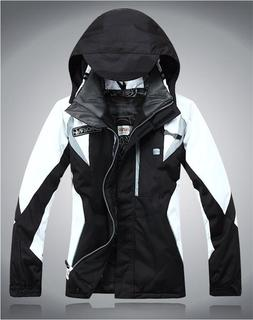 Womens Hooded Warm Ski Coat Winter Zipper Waterproof Outdoor