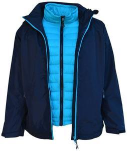 Pulse Womens Plus Size 3in1 Swiss Systems Ski Jacket 1X 2X 3
