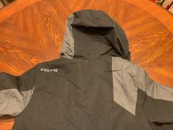 Spyder Youth Elevate Flyte Ski Jacket Gray/Black  Sz XL 18-2