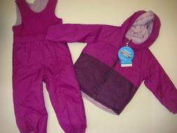 COLUMBIA youth GIRLS SKI SNOW jacket reversible+bib pants PU